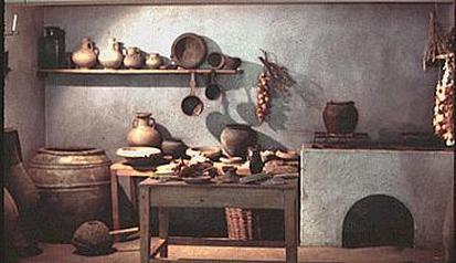 antikinės virtuvės reprodukcija