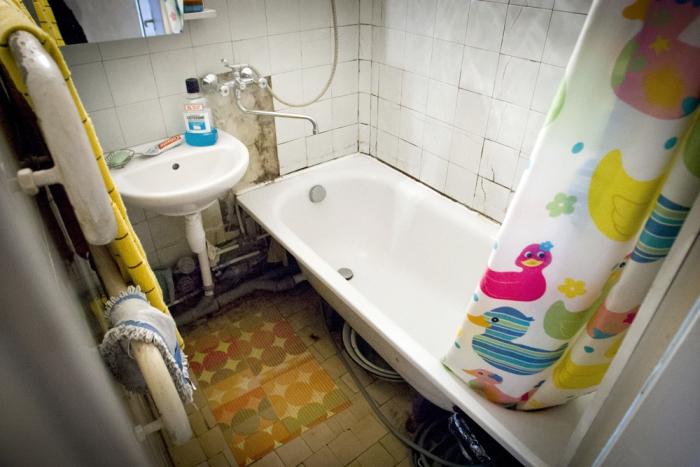 Sovietinis vonios interjeras