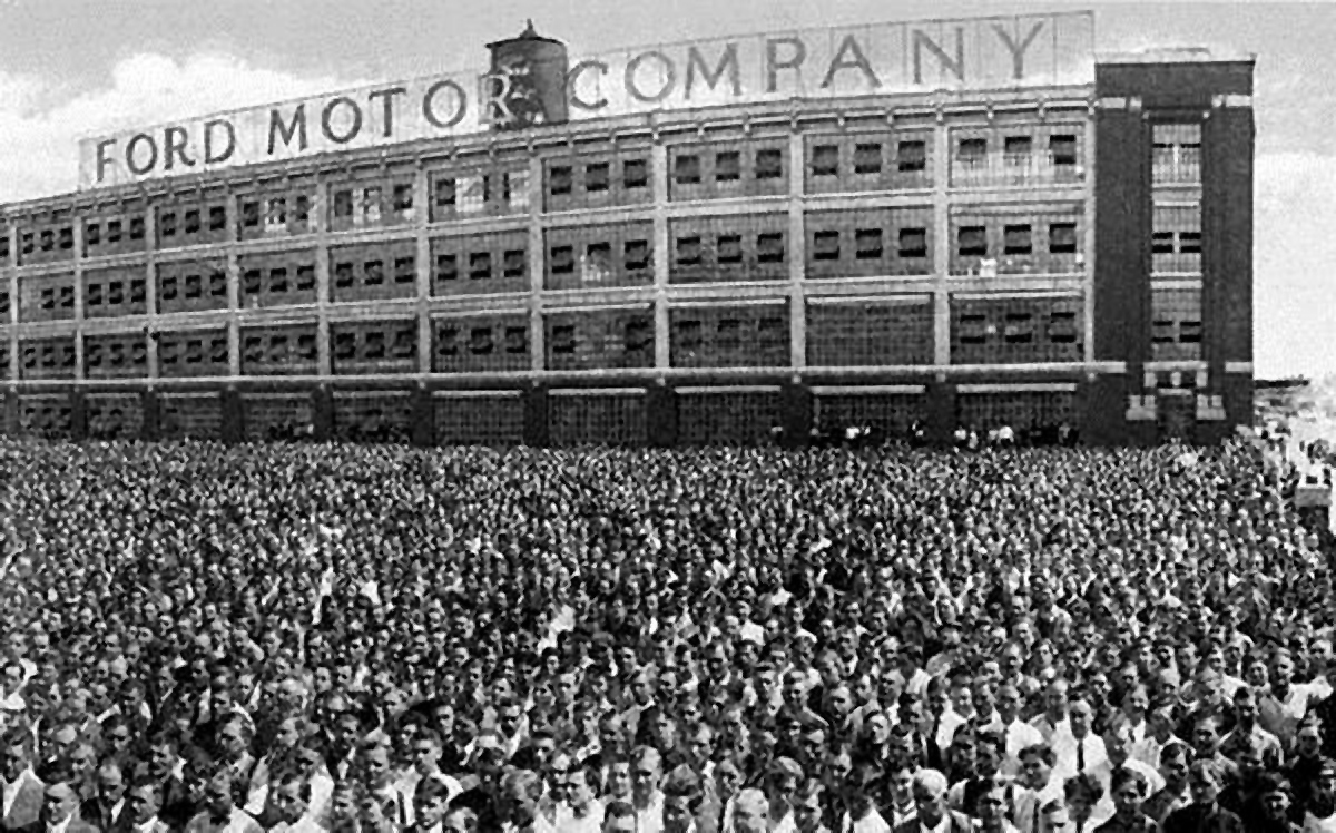 Ford Motor Company ir juostinis transporteris